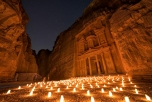Stars above Petra By Night in Jordan.